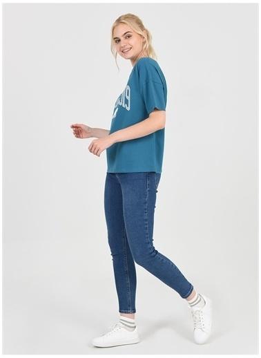 UCLA Ucla Arcata Mavi Kadın T-Shirt Mavi